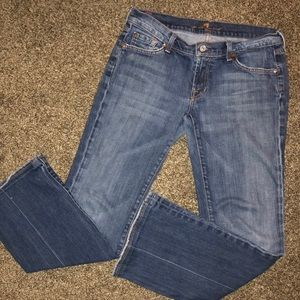 7 SEVEN FOR ALL MANKIND CLASSIC BOOTCUT JEANS 30